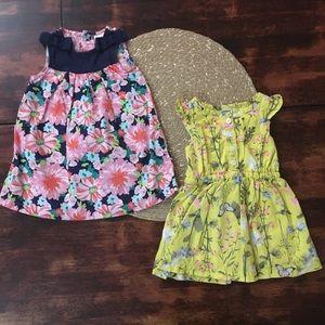 2 cotton Floral Carter's tank dresses